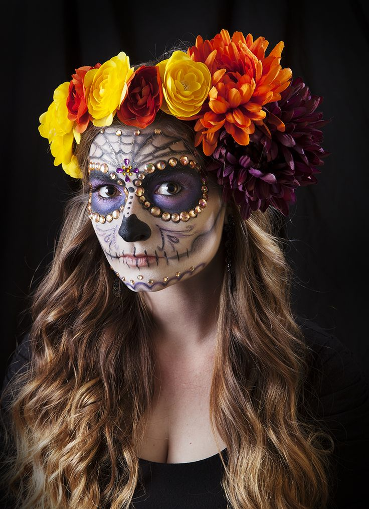 Beautiful Sugar Skull Halloween Makeup Ideas
