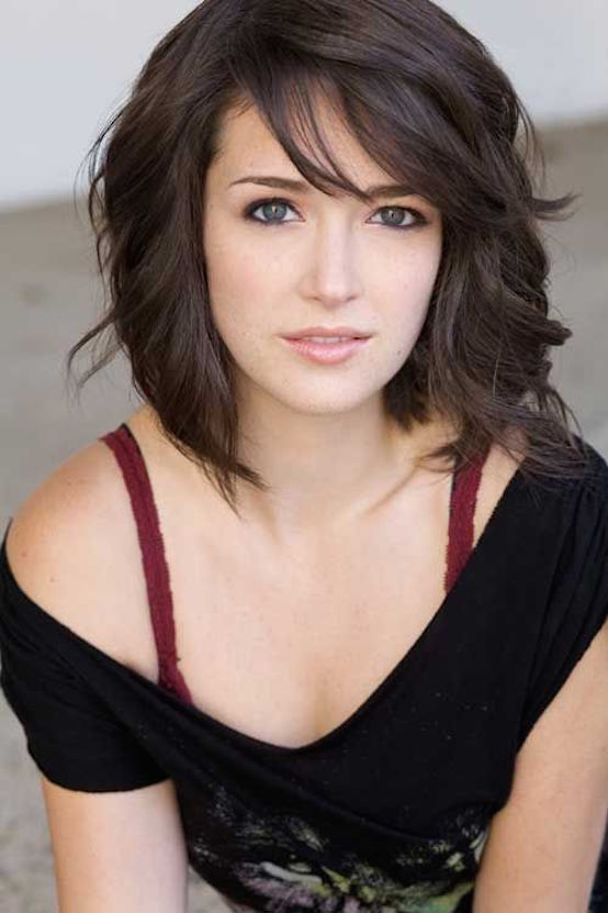 Dark Brown Short Hairstyles for Girls
