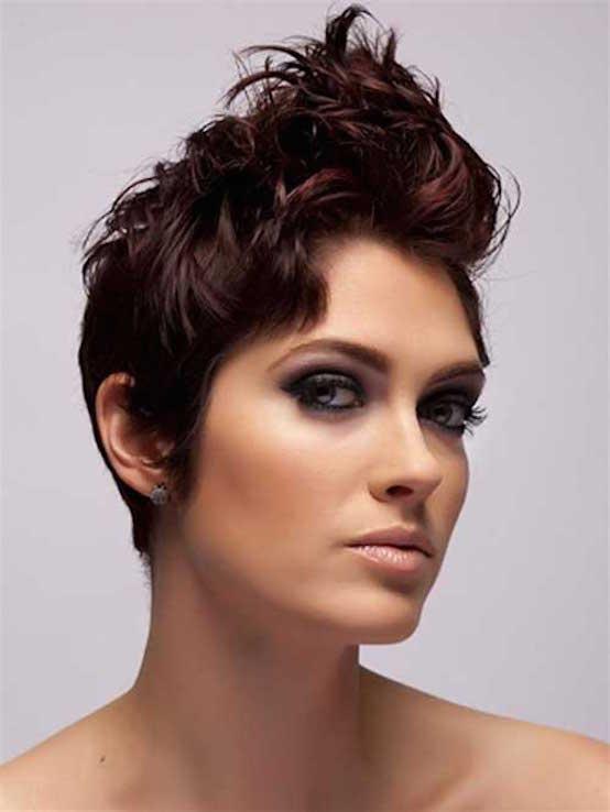 Dark Red Short Pixie Hairstyle