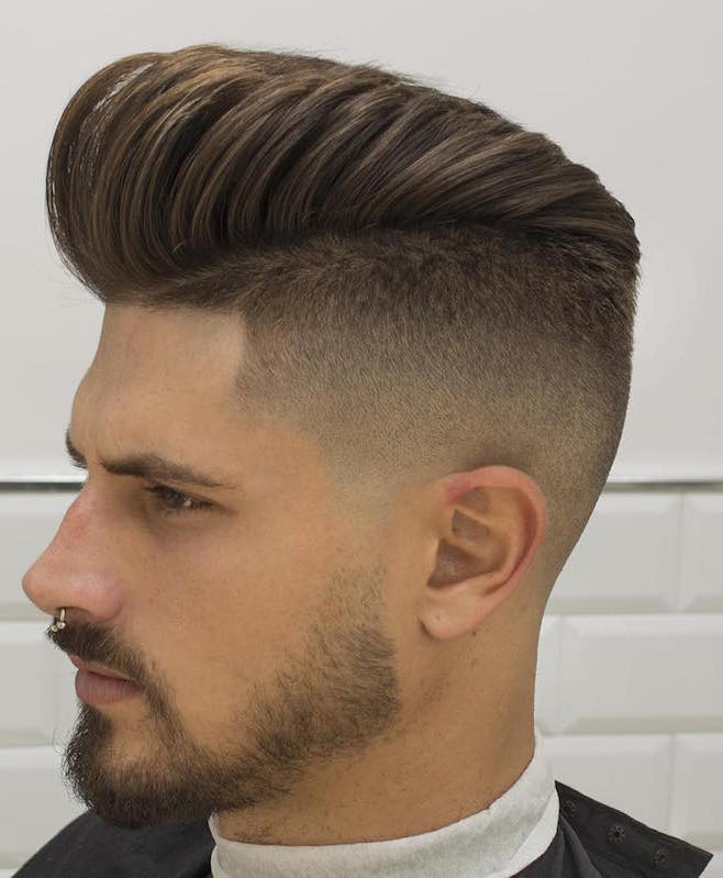 High fade + Pompadour