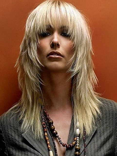 Long Choppy Hairstyles with Blond Hair