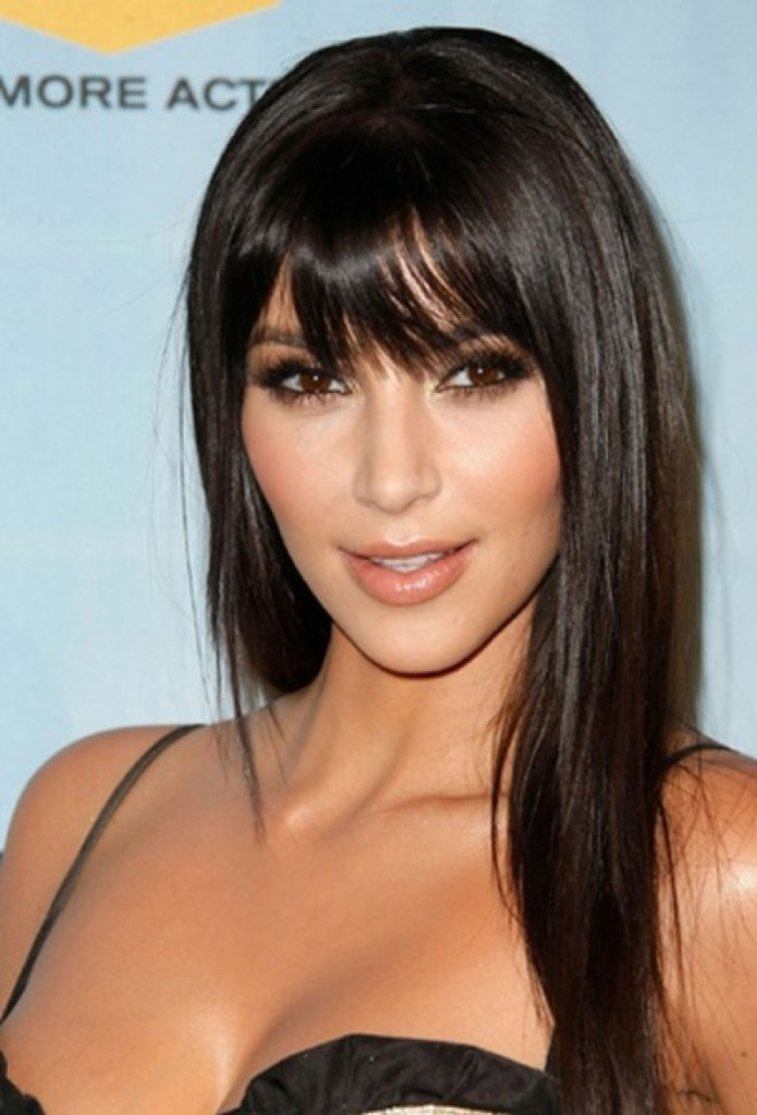 Long Straight Hairstyles with Bangs for Long Faces