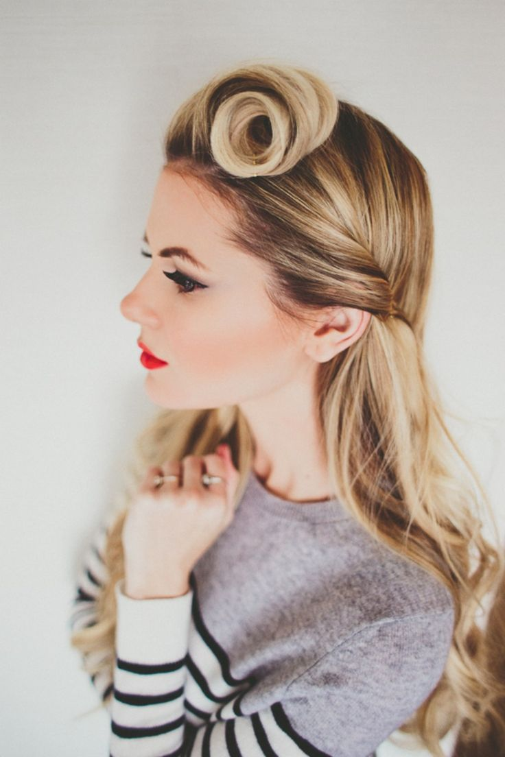 Retro Curl 60's Inspired Hairstyle