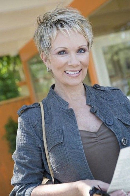 Short Cropped Hairstyles Over 50 With Gray Hair