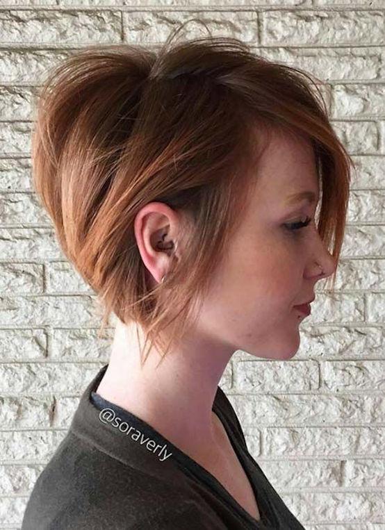 Short Hairstyles for Women Razor-Cut Short Bob