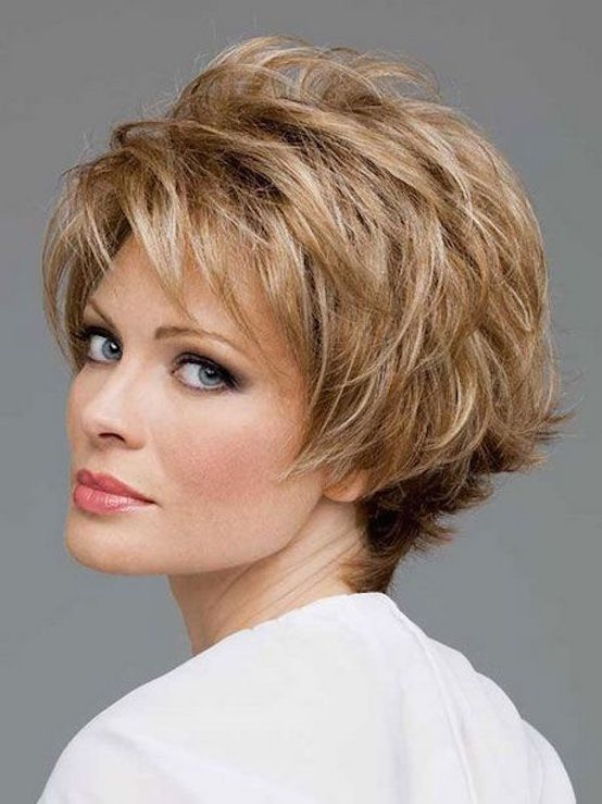 Short hairstyles for women over 50 with fine hair pics