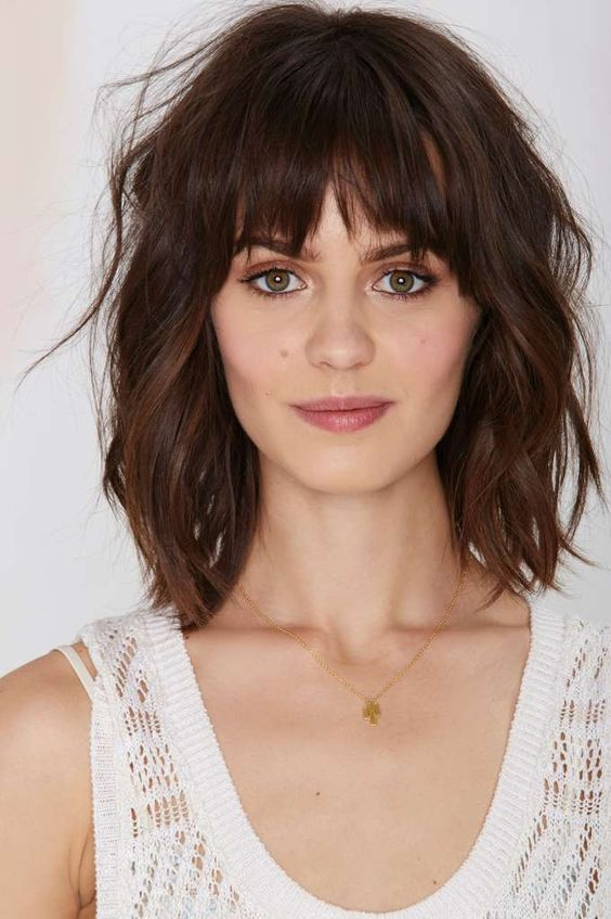 Wavy Hair Medium Length Hairstyles
