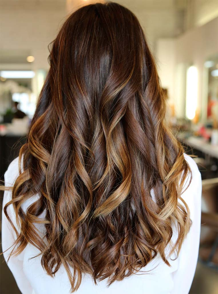 hair highlights for dark brown hair