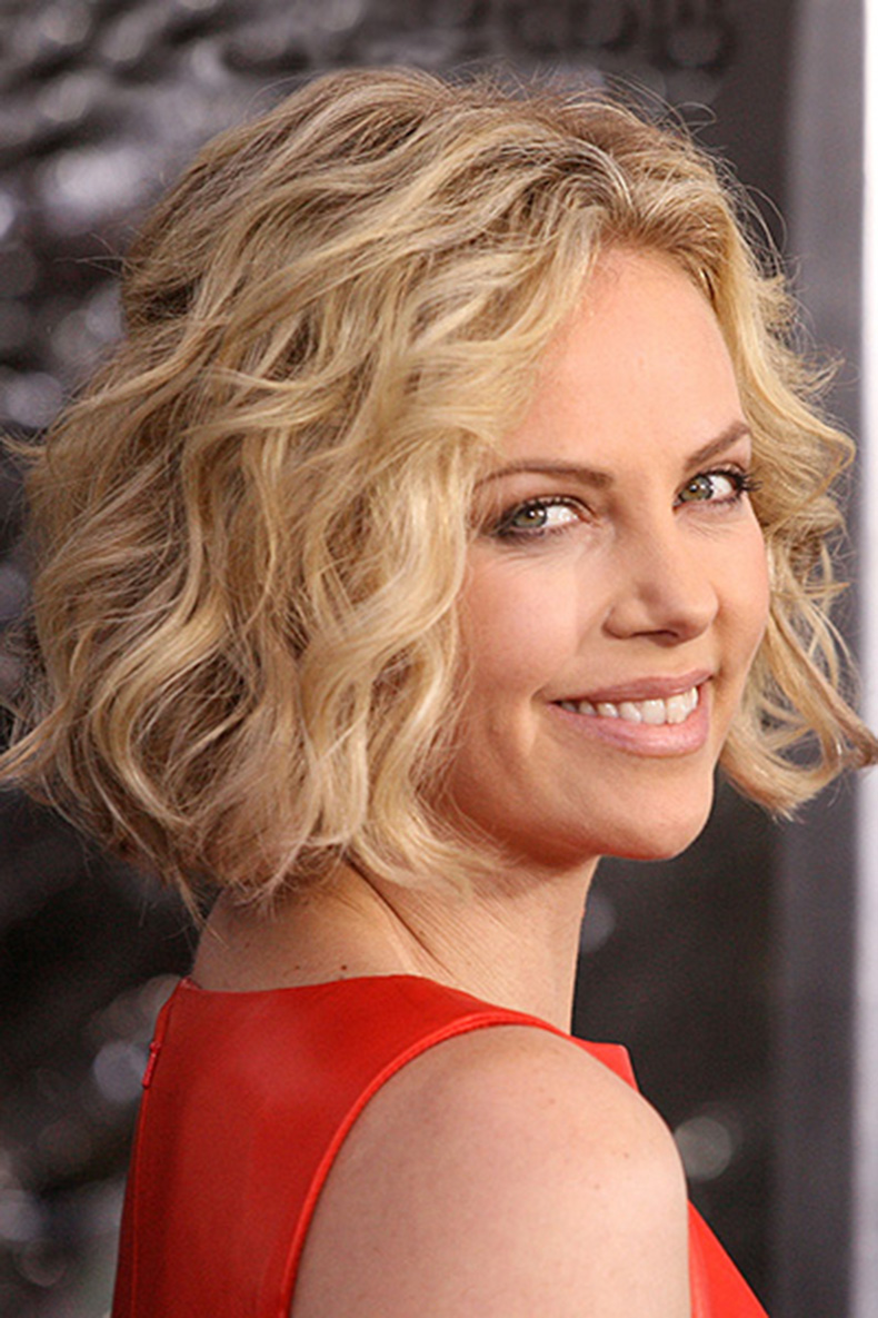 skimming curly bob hairstyle