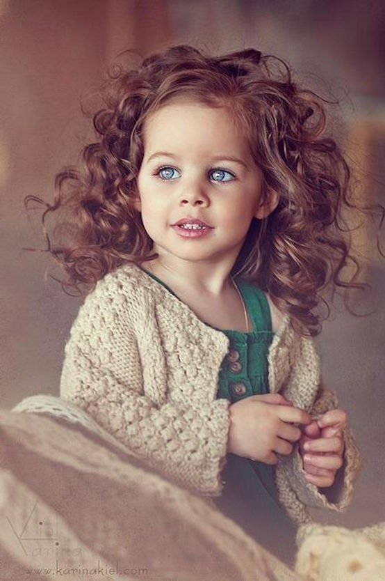 stunning curly hair for kids