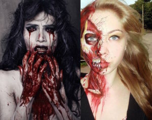 17 Amazing Bloody Halloween Makeup Ideas