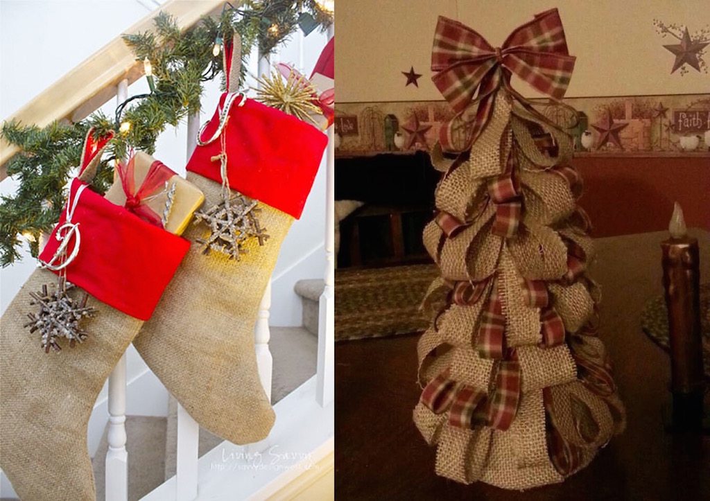 21 Burlap Christmas Decorations Ideas To Try This Christmas