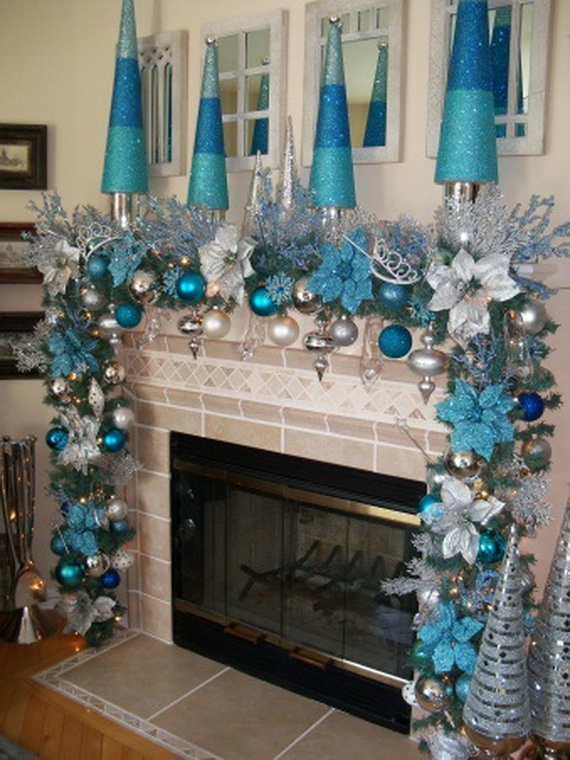 blue christmas decorating ideas