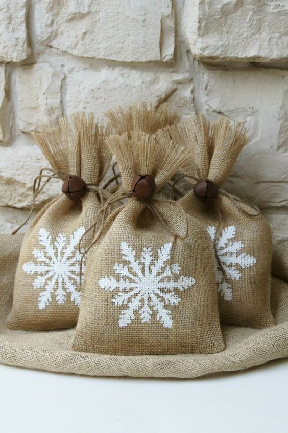 burlap crafts cute snowflake design for christmas