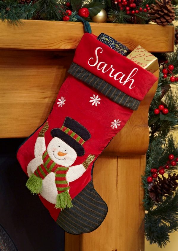 diy snowman christmas stocking ideas