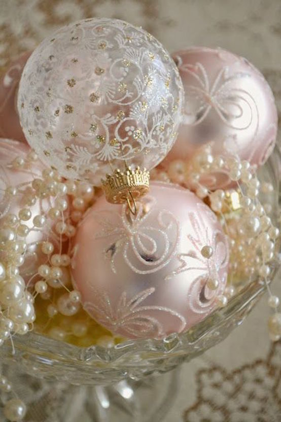 shabby chic christmas ornaments