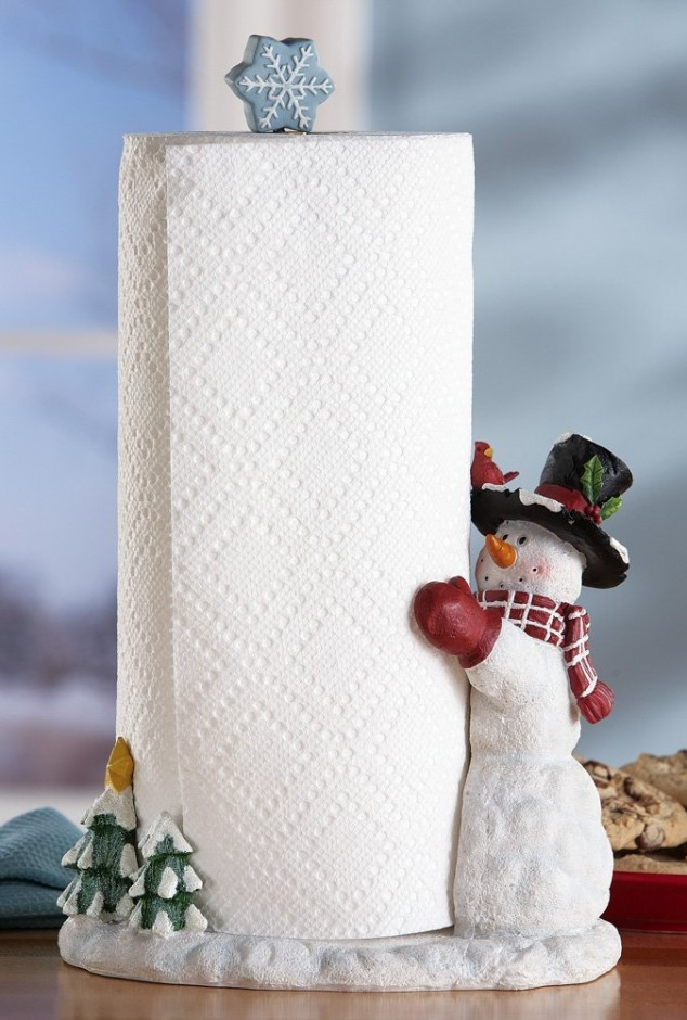 snowman paper towel holder for christmas