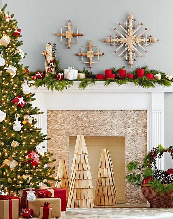 Surprising Christmas Fireplace Decoration Ideas
