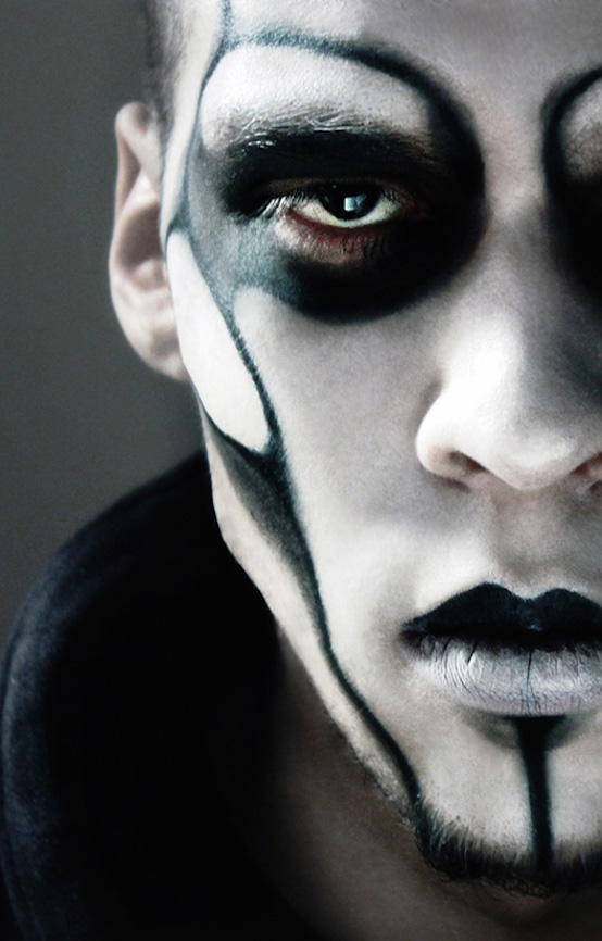 spooky horror goth men's make-up