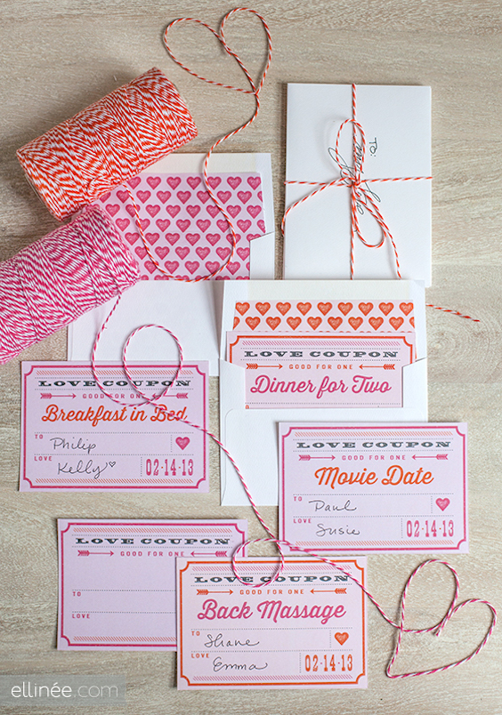 printable valentines day love coupons