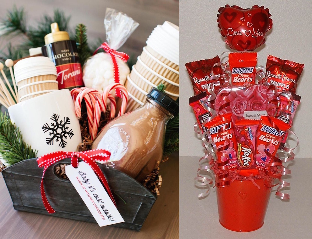 15 DIY Romantic Gifts Basket For Valentine's Day