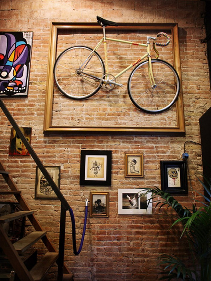 Bicycle-and-Photo-Wall-Art