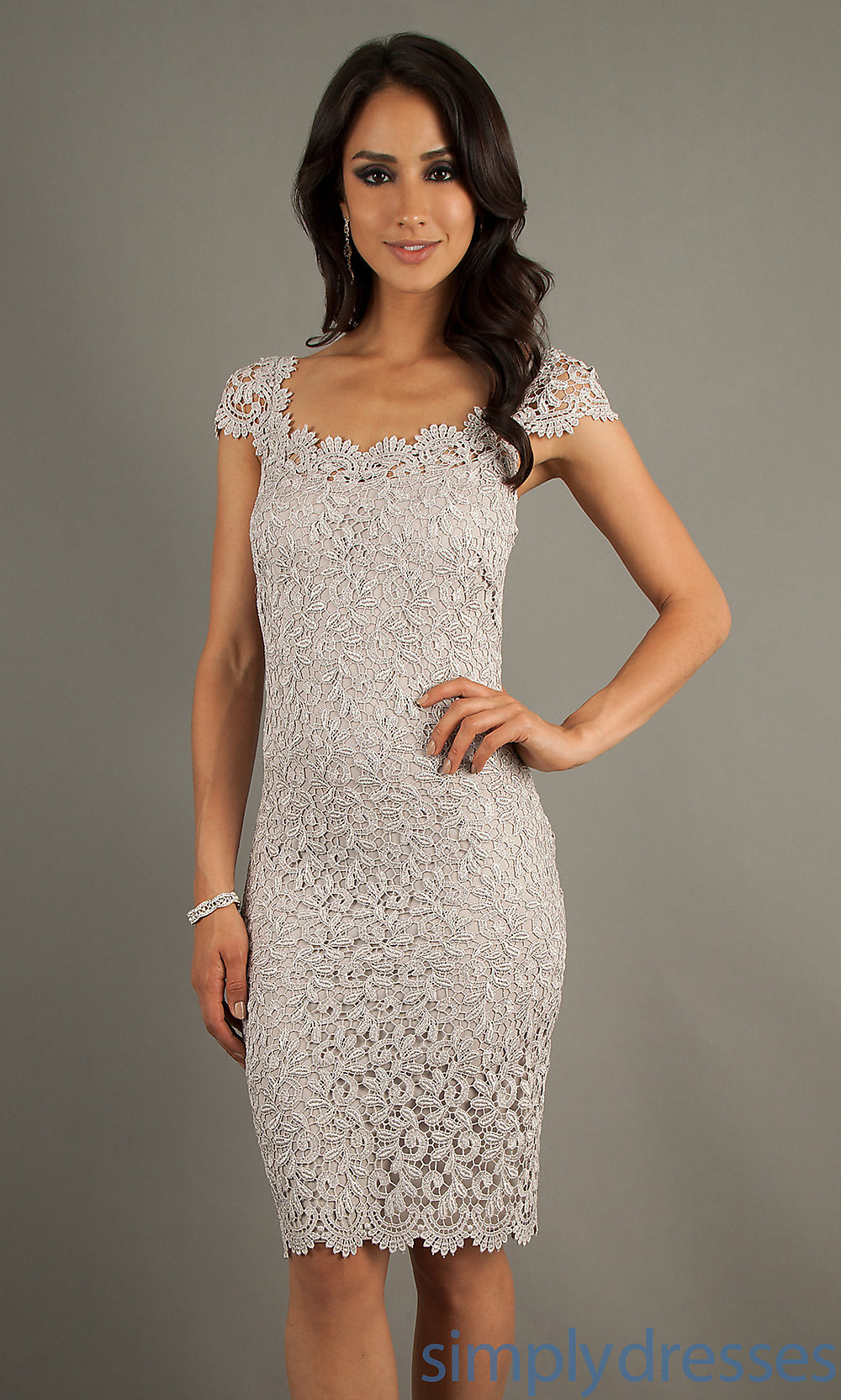 Lace cocktail White Semi Formal Dresses