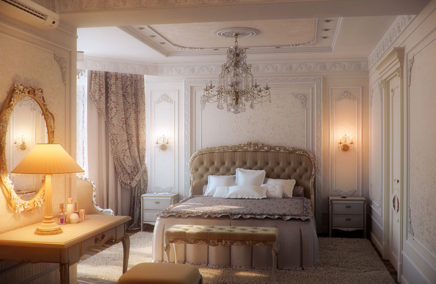 Master-Romantic-Bedroom-Decorating-Ideas-Luxurious-White
