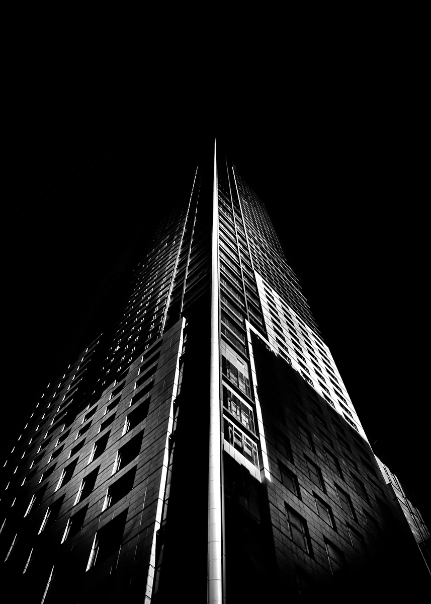 The Trump Tower at 325 Bay Street in Toronto Canada. The 65 storey tower is located on the southeast corner of Bay and Adelaide in the heart of the Toronto Financial District. Canon EOS 60D body with a Sigma 17-70mm f2.8 DC Macro OS lens. Silver EFEX Pro as a Lightroom plugin for the B&W conversion. Brian Carson The Learning Curve Photography www.twitter.com/learningcurveca