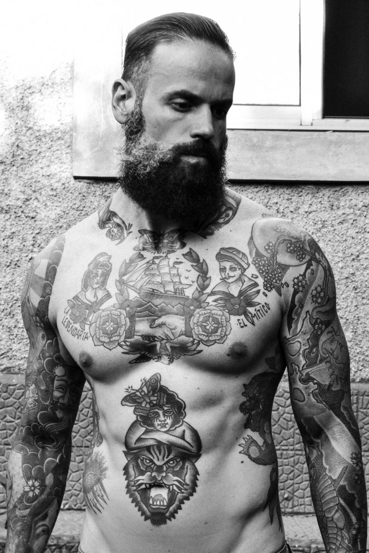 black-and-white-photo-tattoos-for-men
