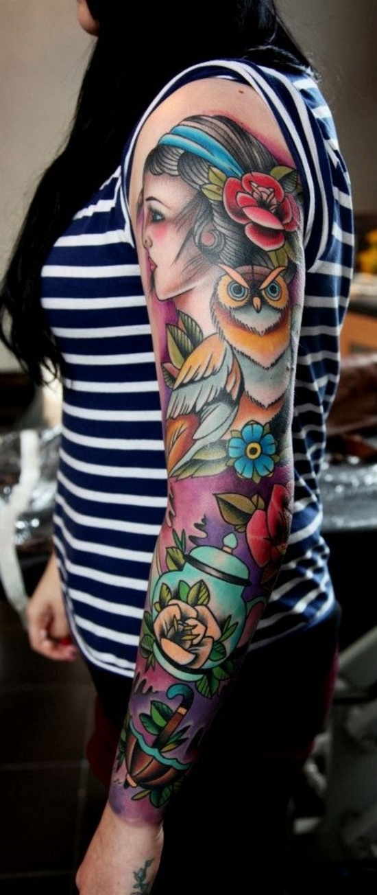 Gorgeous traditional style sleeve