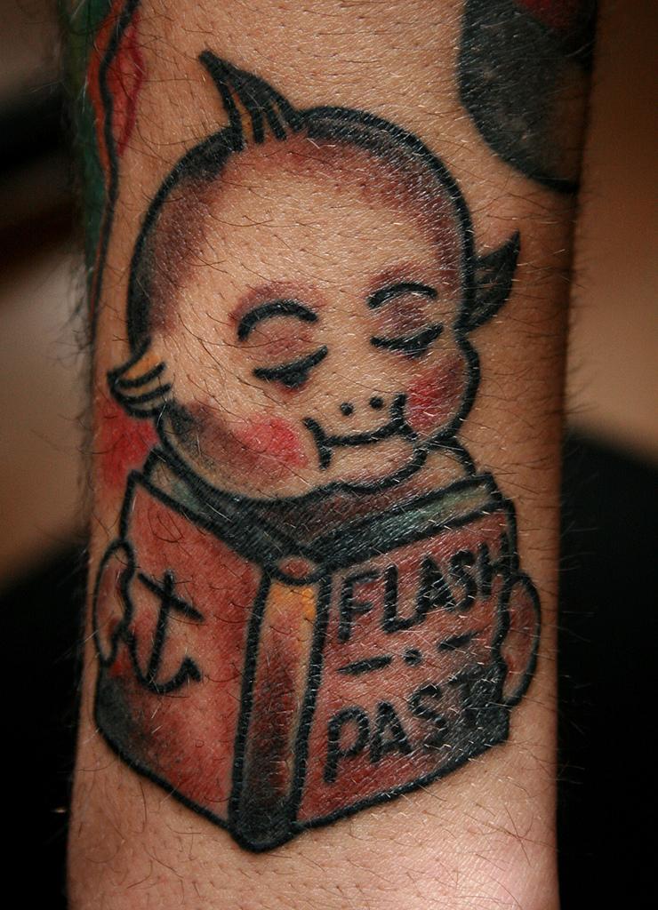Kewpie Tradiational Tattoo