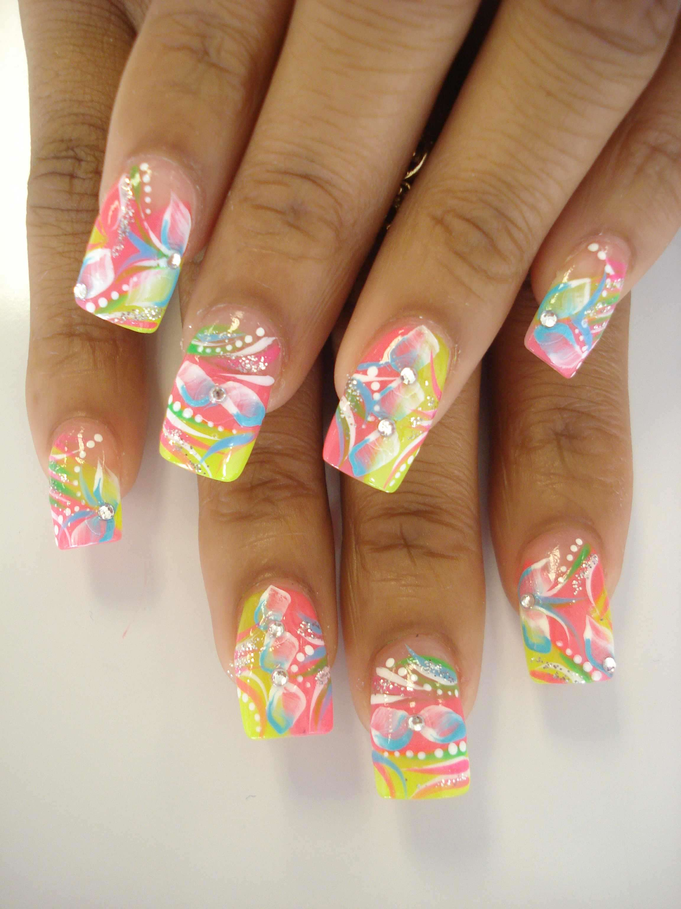 Acrylic Nails Springspring Nail Art Designs