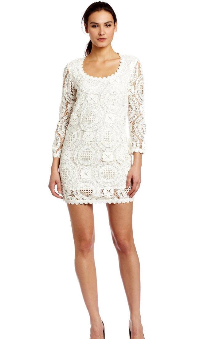 White Chic Mini Lace Dress