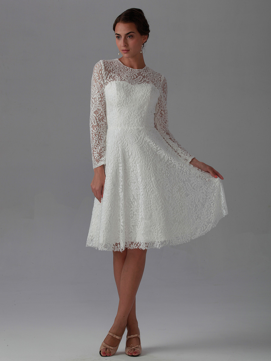 White Lace Dress Vintage