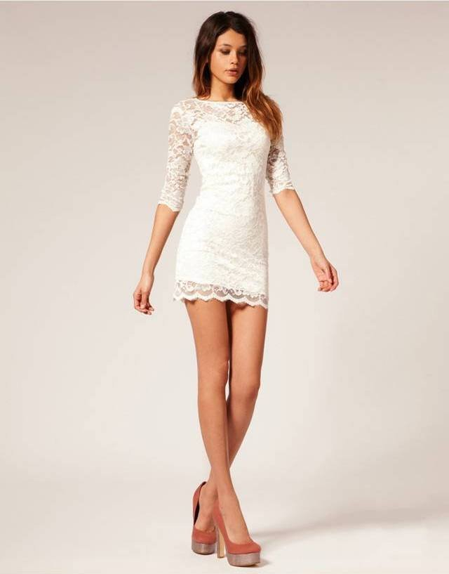 White Lace Dresses Design