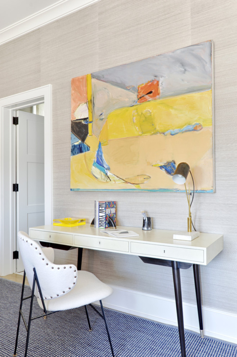 beach style home office decoration