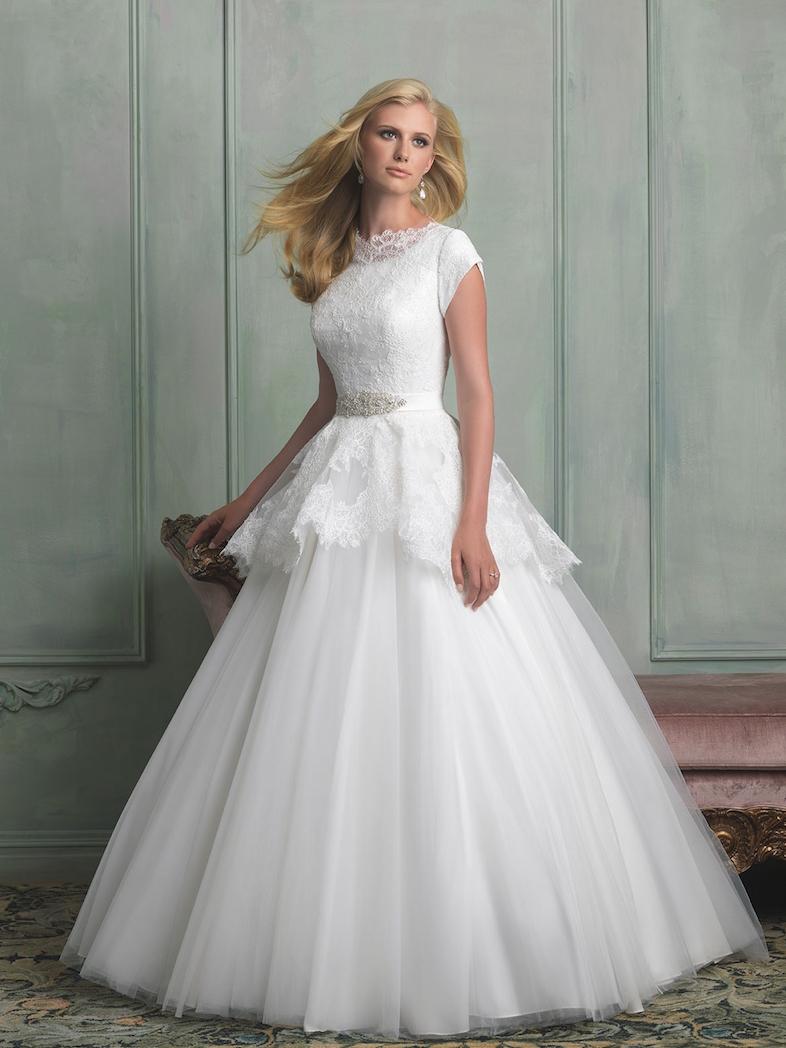 modest wedding gowns uk
