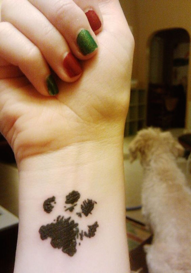 Dog Paw Tattoo Design