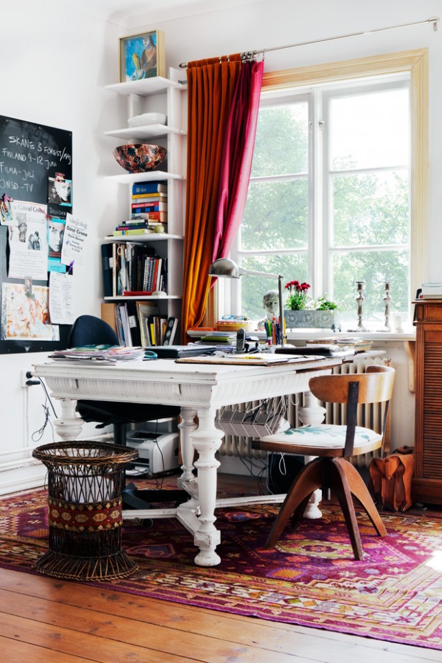 Eclectic Home Office Idea