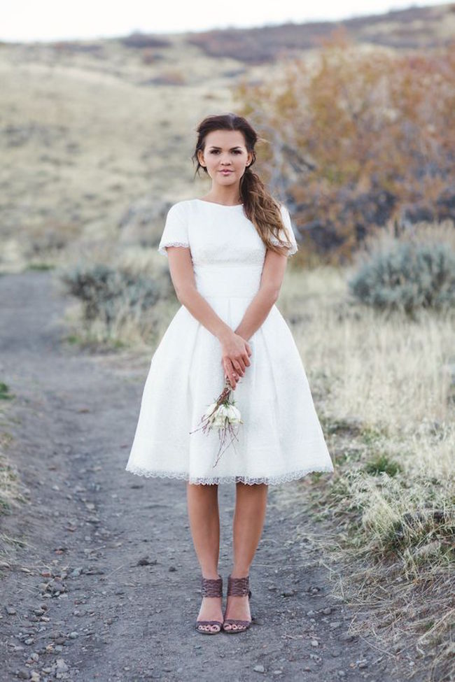 Fey gown for brides who want a non-traditional look