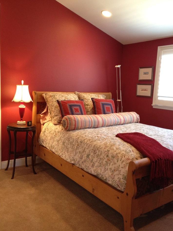 Innovative Modern Red Bedroom Design