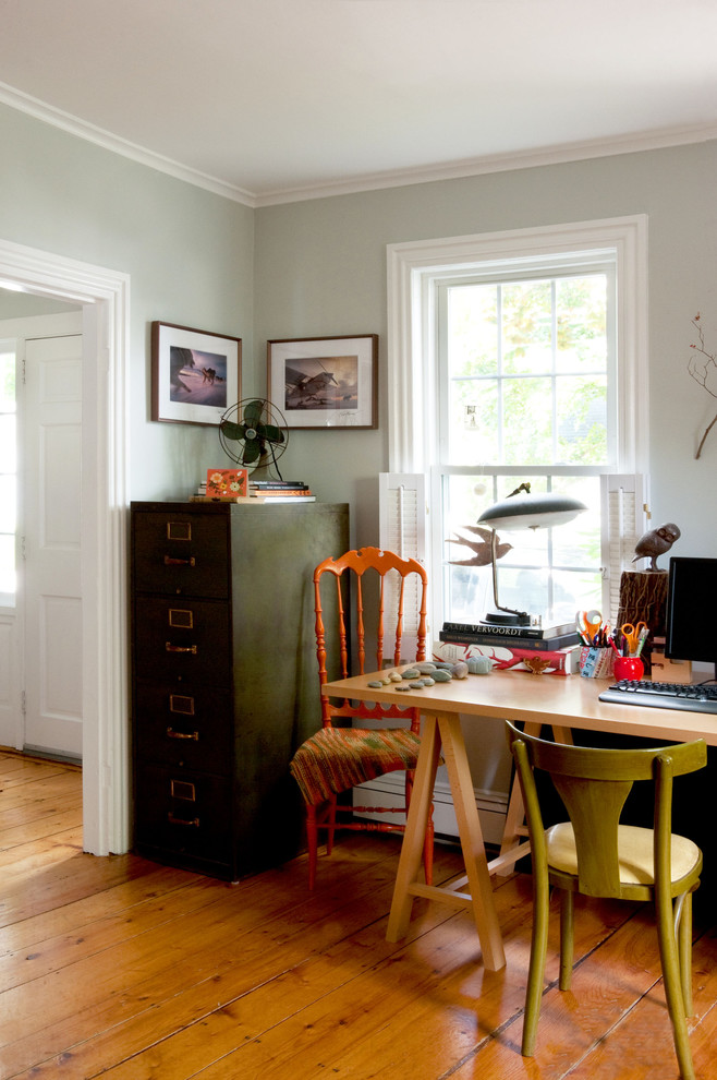 Metro Eclectic Home Office Decoration ideas