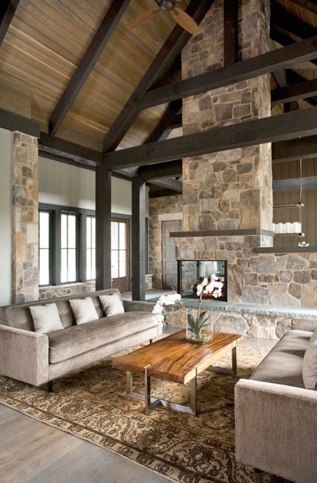 Modern And Rustic Living Room Design Ideas