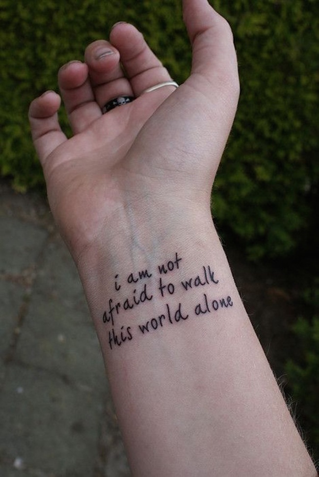 Quote Tattoo Designs for Girls