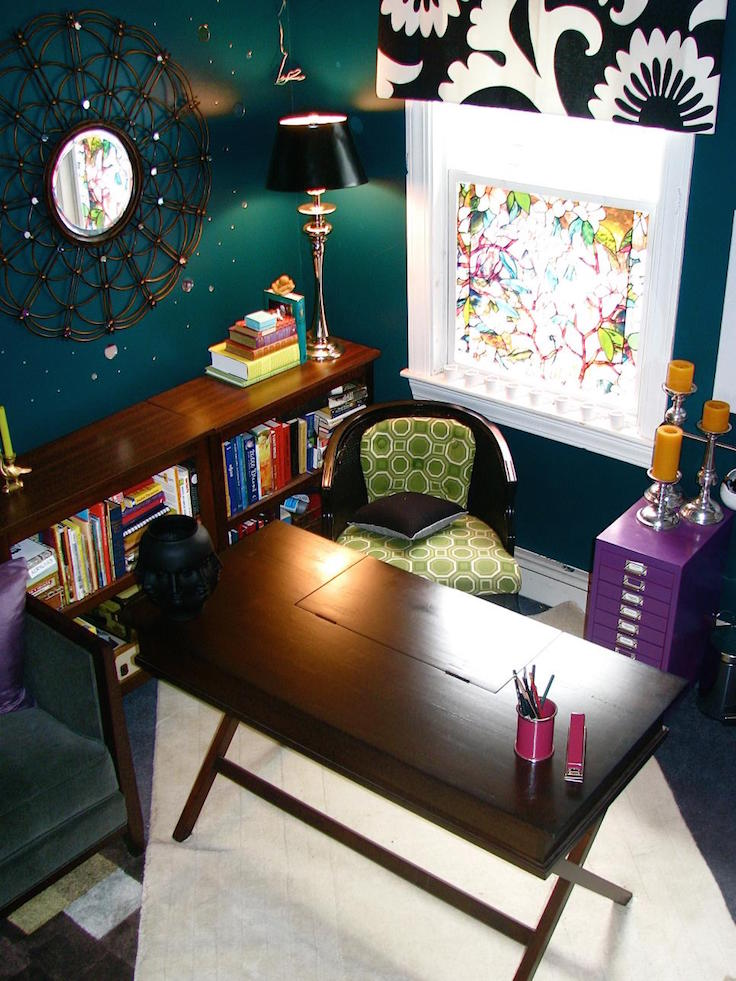 colorful eclectic home office