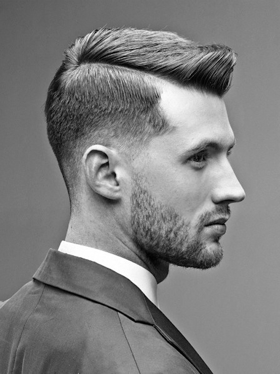 side part haircut men
